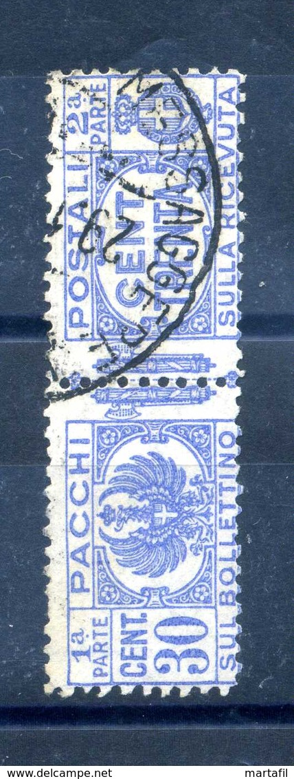 1927-32 REGNO PACCHI POSTALI N.27 USATO - 1900-44 Vittorio Emanuele III