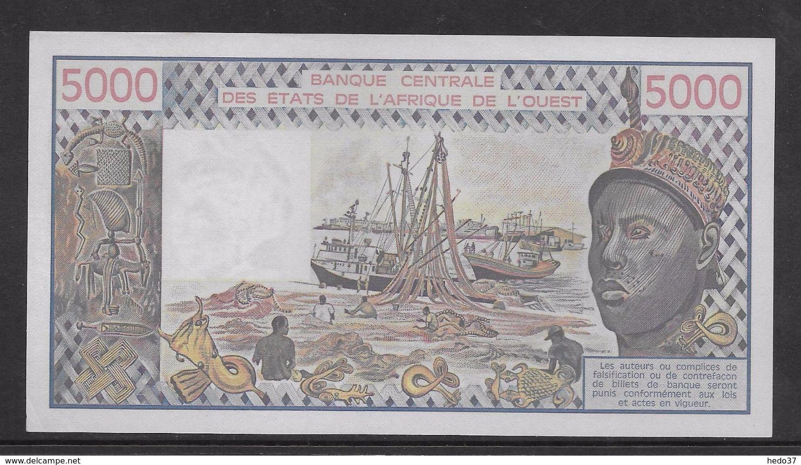Côte D'Ivoire - 5000 Francs - 1978 -  Pick N°108Ab - Neuf - Côte D'Ivoire