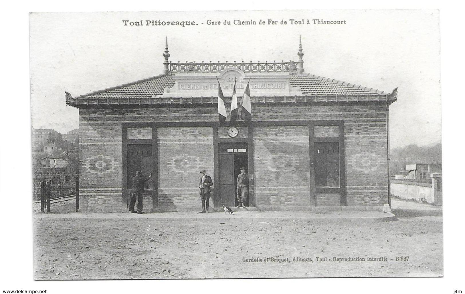 54/ MEURTHE Et MOSELLE...TOUL: Gare Du Chemin De Fer De Toul à Thiaucourt - Toul