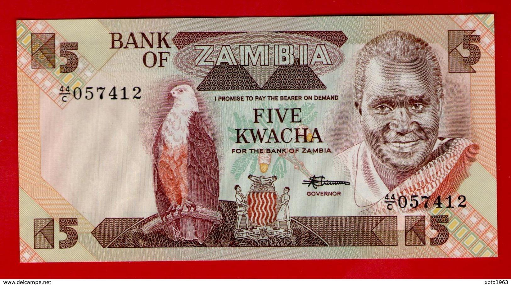 ZAMBIA 5 KWACHA (1980-1988) P-25d UNC NEUF - Zambie