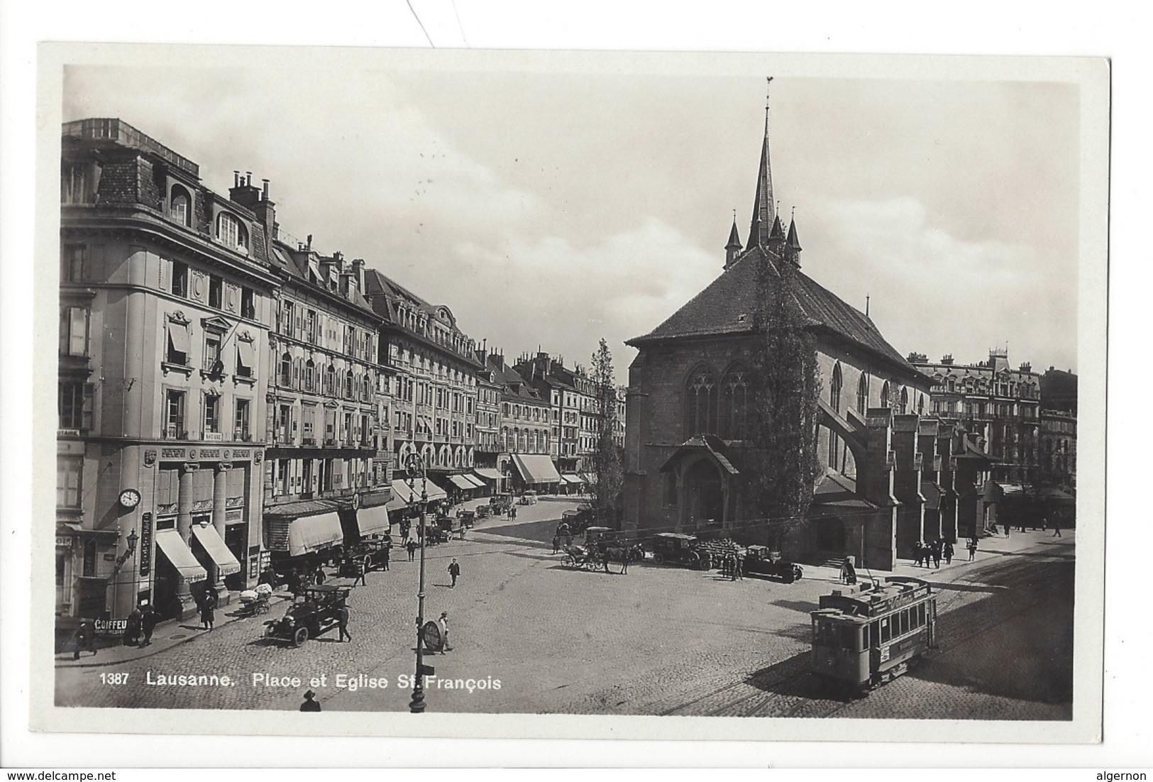 21315 - Lausanne Place Et Eglise St-François Tram - VD Vaud