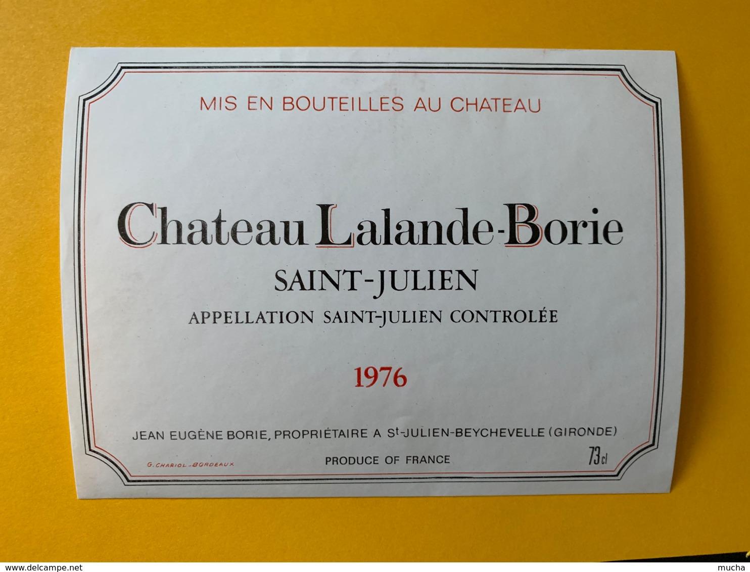 9540 - Château Lalande-Borie 1976 Saint-Julien - Bordeaux