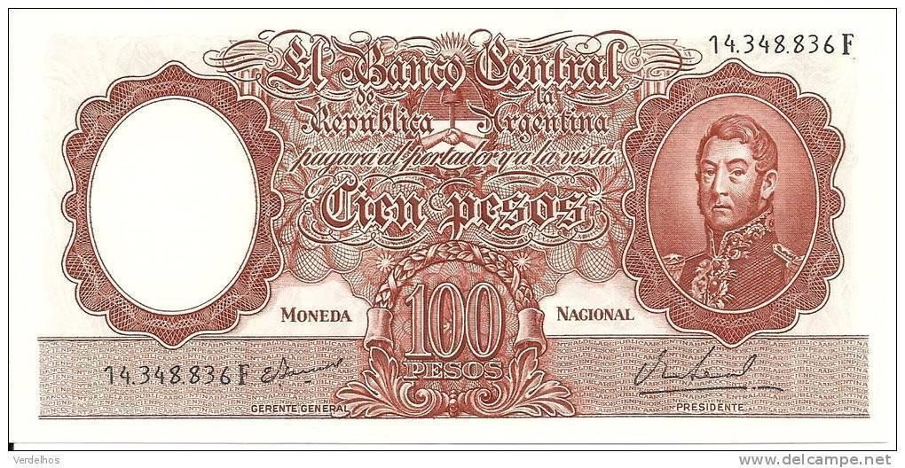 ARGENTINE 100 PESOS ND1967-69 UNC P 277 - Argentine