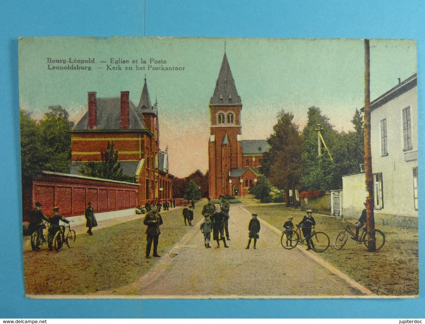 Bourg Léopold Eglise Et La Poste - Leopoldsburg