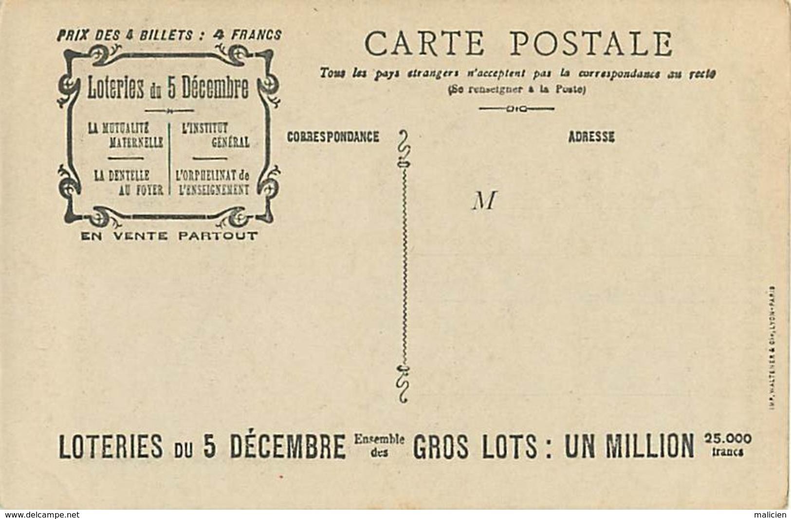 -ref-B70- Assurances - Caisse Generale Des Loteries - P. Reynaud - Paris - La Mutualité Maternelle - Loterie - Loteries - Métiers