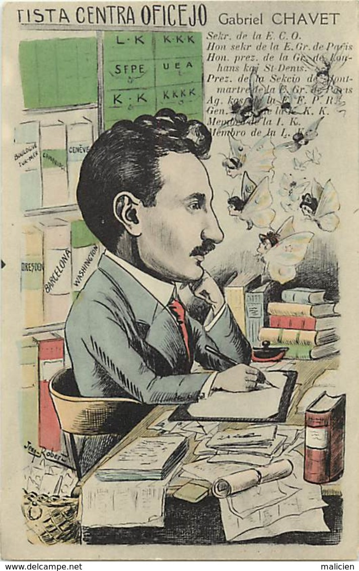 -ref-B68-  Saône Et Loire - Digoin -m. Gabriel  Chavet - Esperantiste - Esperantistes -  Esperanto - Illustrateurs - - Digoin