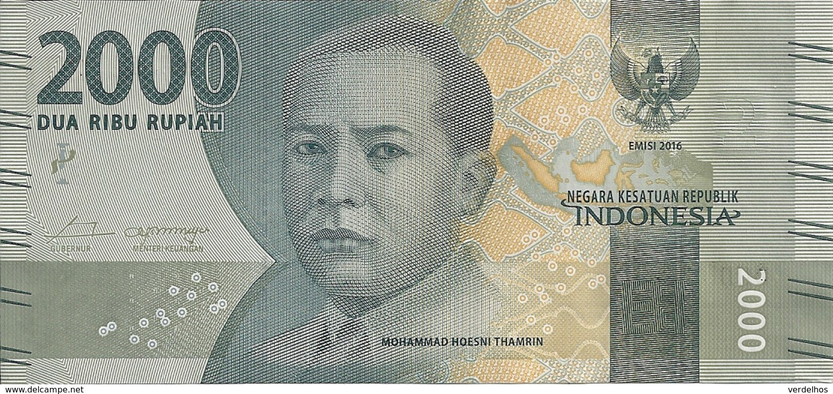 INDONESIE 2000 RUPIAH 2016 UNC P 155 A - Indonésie