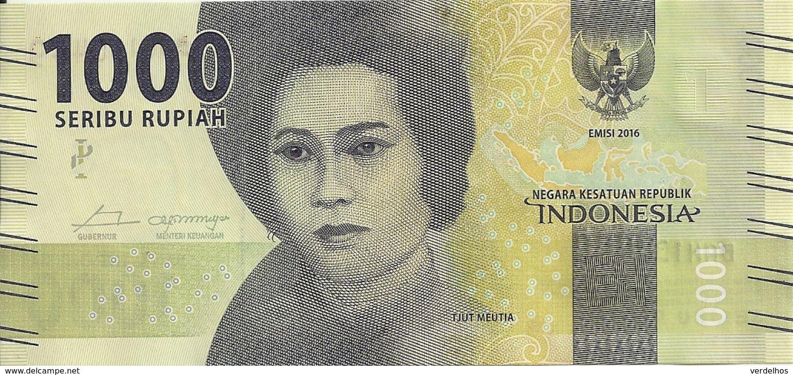 INDONESIE 1000 RUPIAH 2016 UNC P 154 - Indonésie