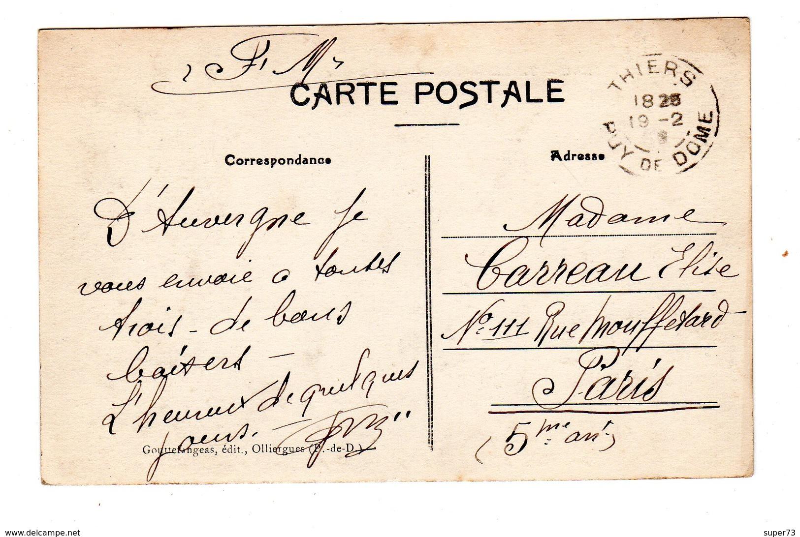 CPA 63 - Thiers - Lycée Et Rue De La Gare , Animation - Thiers
