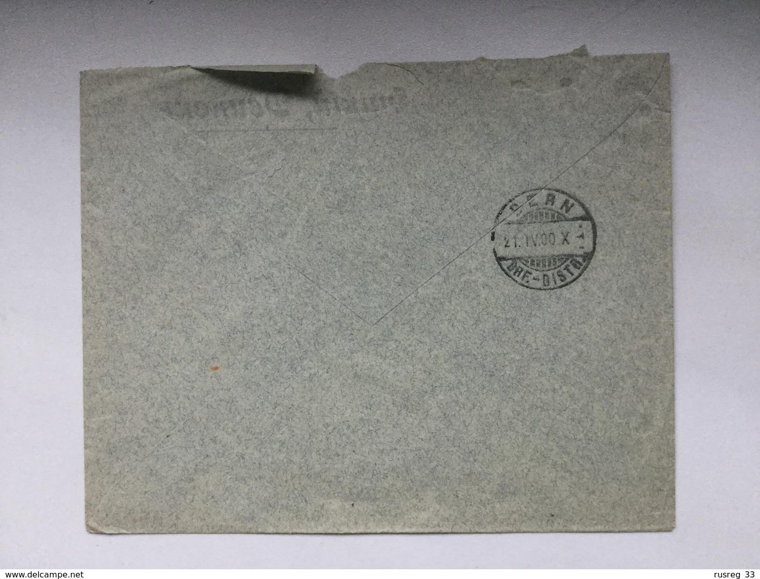 K6 Russia Russie 1900 Brief Von Dvinsk Nach Bern - 1857-1916 Imperium