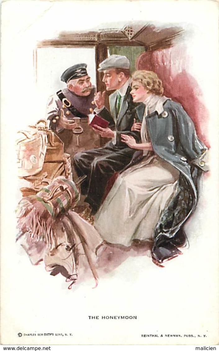 -ref-B45- Illustrateurs - Illustrateur - The Honeymoon -  N° 189 -  Maries - Couples - - Illustrateurs & Photographes