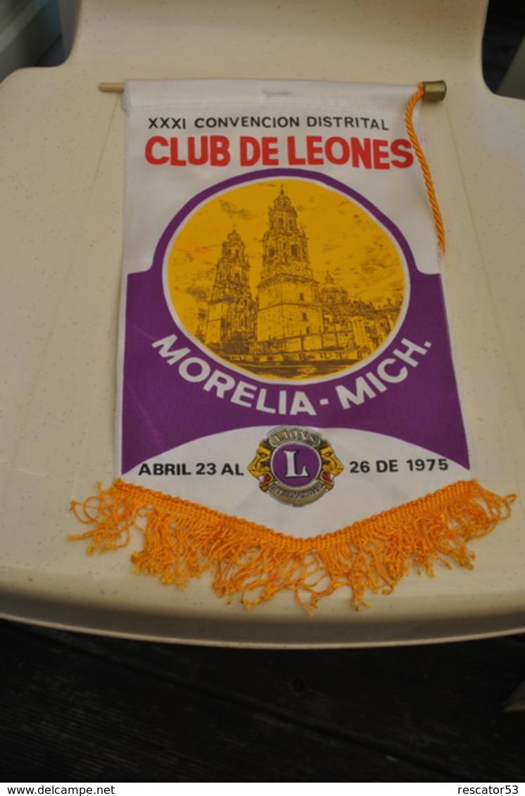 Rare Fanion Lion's Club Morelia Mich 1975 - Organizations