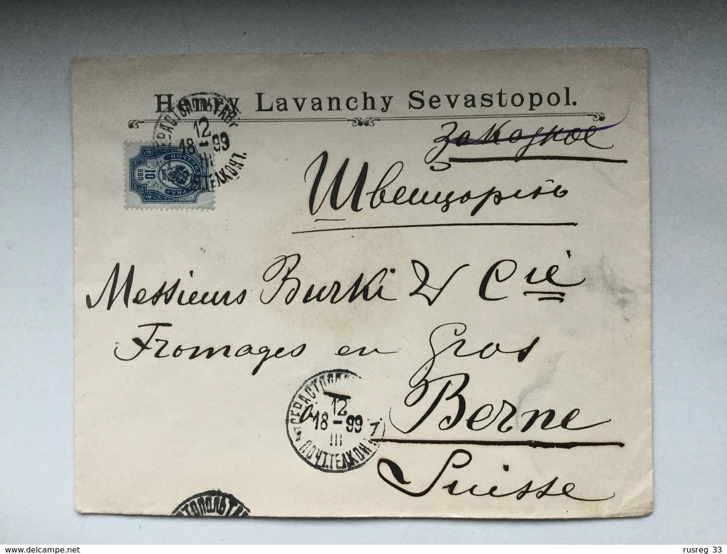 K6 Russia Russie 1899 Brief Von Sevastopol Nach Bern - 1857-1916 Empire