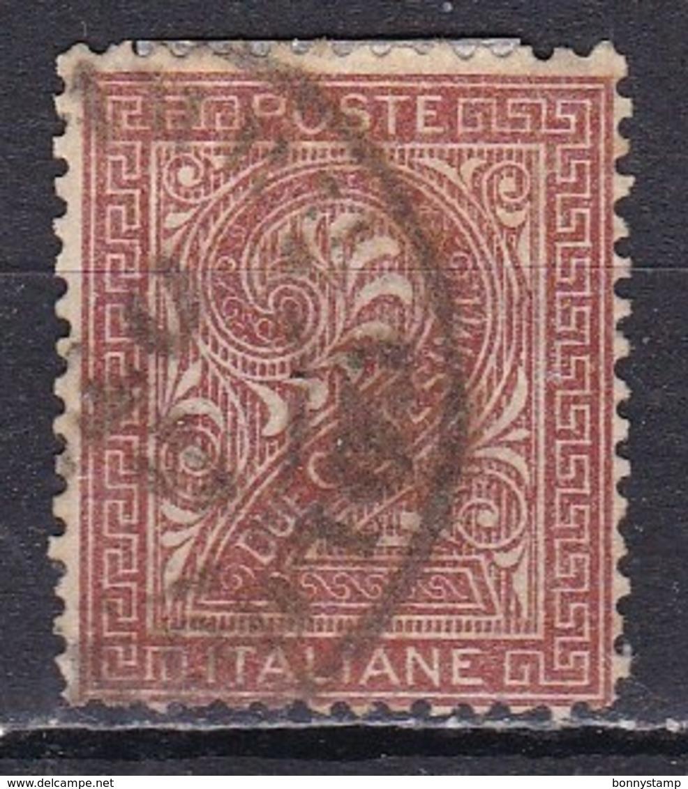 Regno D'Italia, 1863 - 2c Serie De La Rue O Effige Di Vittorio Emanuele II - Nr.15T Usato° - 1861-78 Vittorio Emanuele II