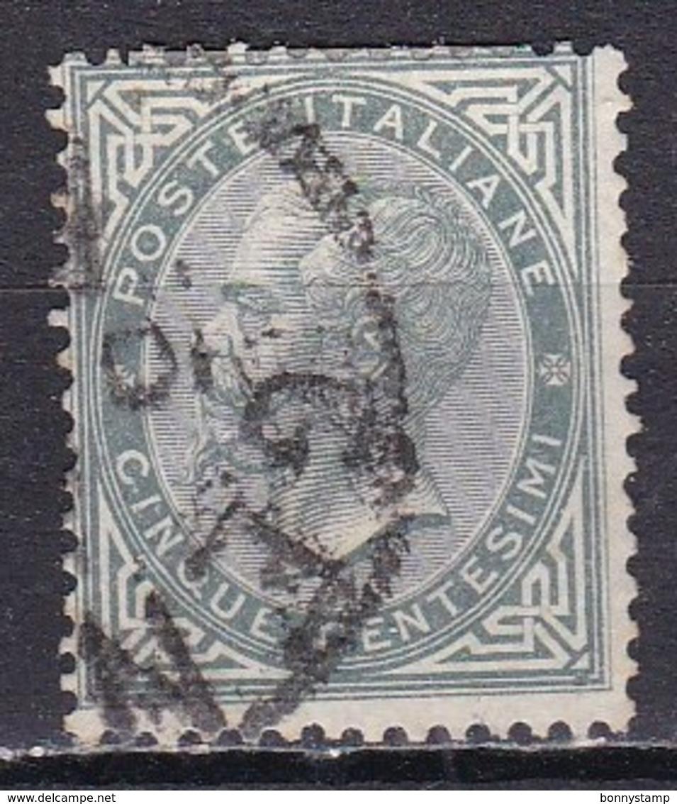 Regno D'Italia, 1863 - 5c Serie De La Rue O Effige Di Vittorio Emanuele II - Nr.16T Usato° - 1861-78 Vittorio Emanuele II