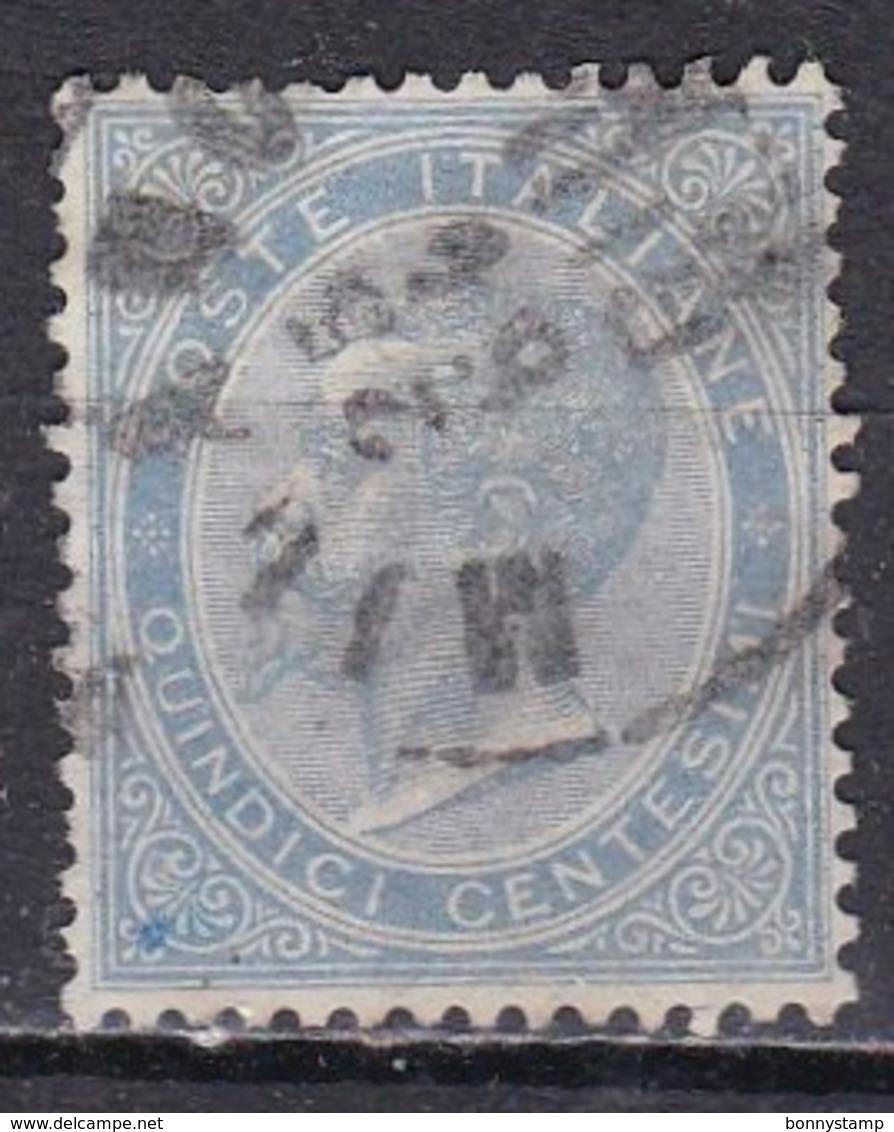 Regno D'Italia, 1863 - 15c Serie De La Rue O Effige Di Vittorio Emanuele II - Nr.18L Usato° - 1861-78 Vittorio Emanuele II