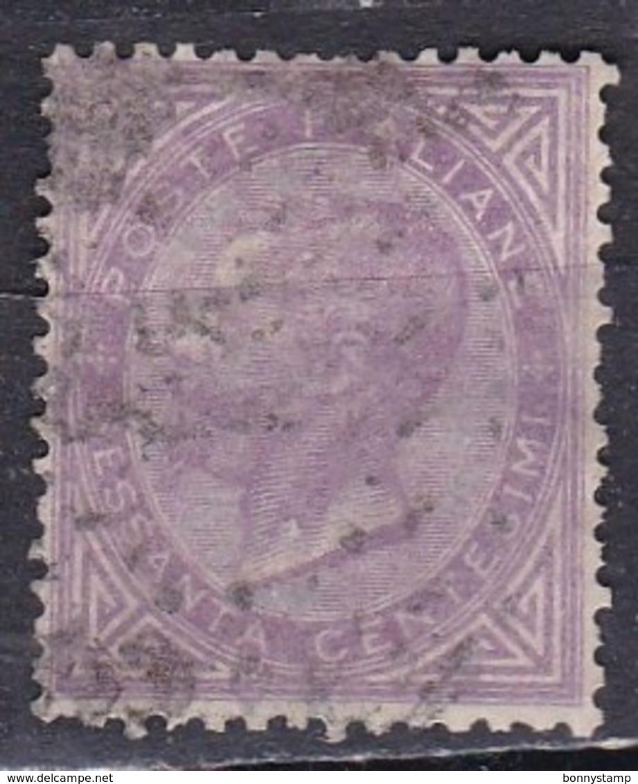 Regno D'Italia, 1863 - 60c Serie De La Rue O Effige Di Vittorio Emanuele II - Nr.21T Usato° - Usati