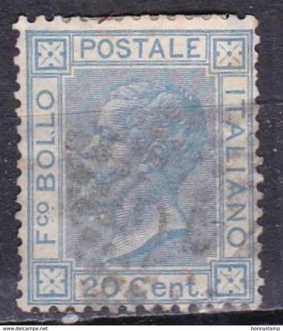 Regno D'Italia, 1867 - 20 Cent Vittorio Emanuele II° - Nr.26 Usato° - 1861-78 Vittorio Emanuele II