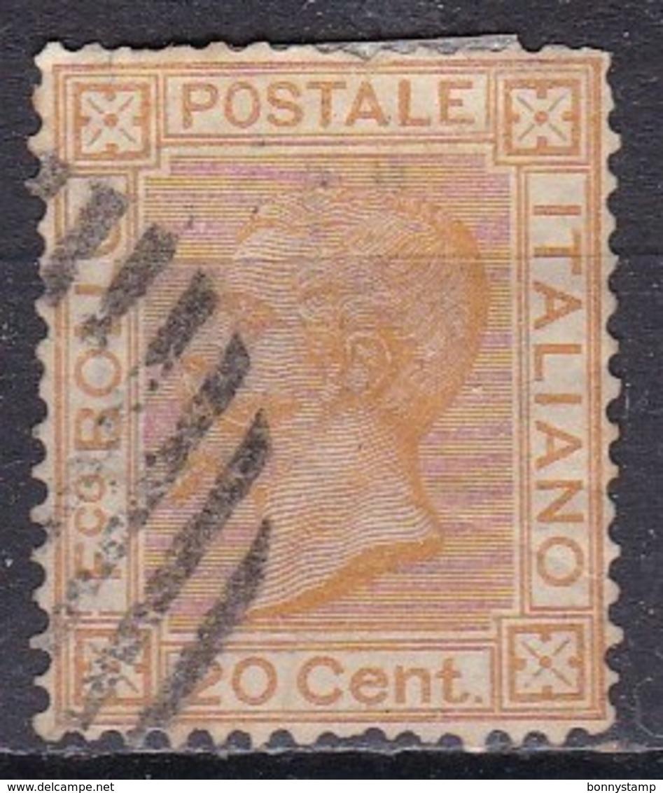 Regno D'Italia, 1877 - 20c Vittorio Emanuele II - Nr.28 Usato° - 1861-78 Vittorio Emanuele II