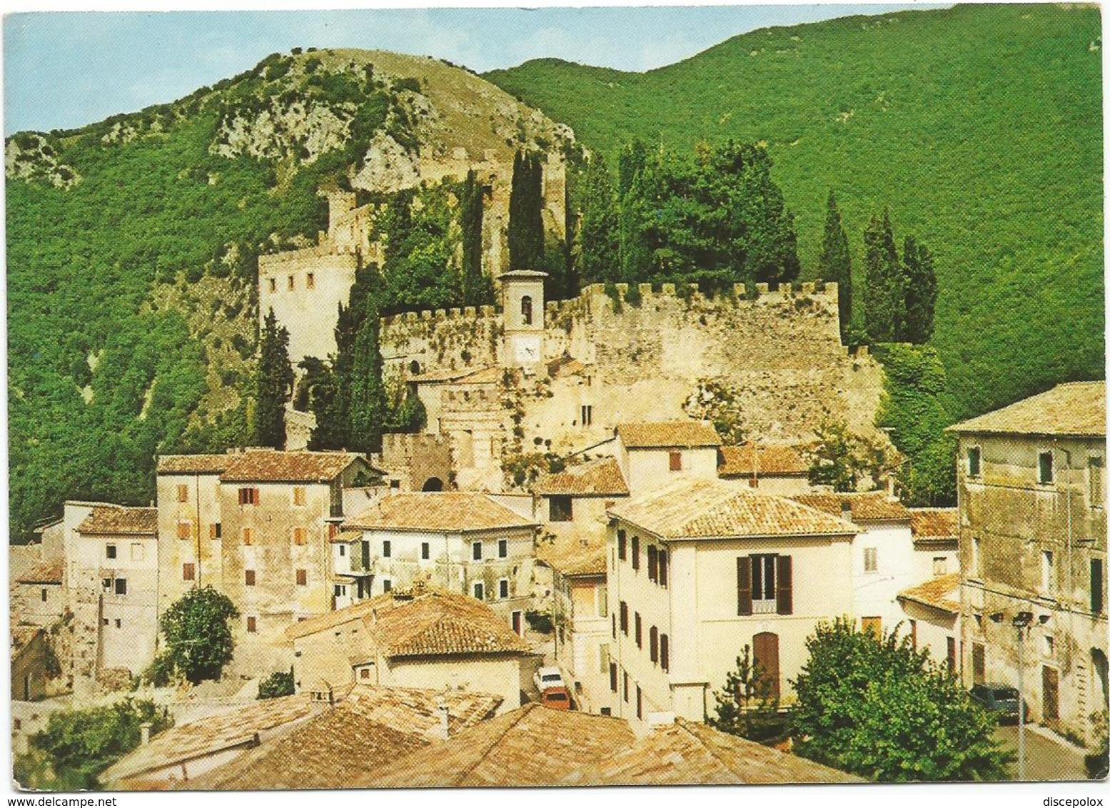 V3605 Rocca Sinibalda (Rieti) - Panorama Col Castello - Castle Chateau Schloss Castillo / Non Viaggiata - Altre Città