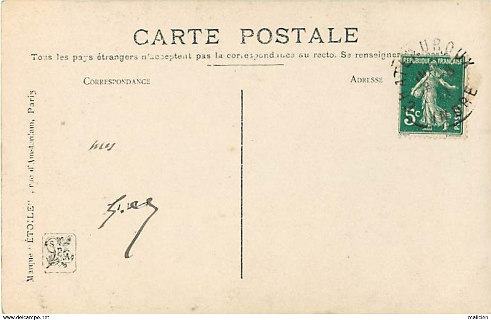 -ref-B15- Arts - Tableaux - Tableau : La Peche Aux Huitres - Peintre G. Balande - Salon 1909 - Ostreiculture - Metiers - - Peintures & Tableaux