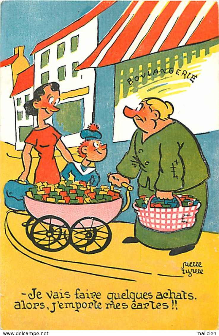 -ref-A1000- Humour - Humoristiques - Les Achats . Les Cartes ... -  Carte Bon Etat - - Humour