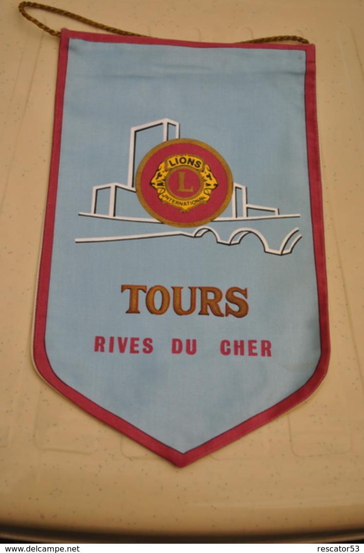 Rare Fanion Lion's Club Tours Rive Du Cher - Organizations