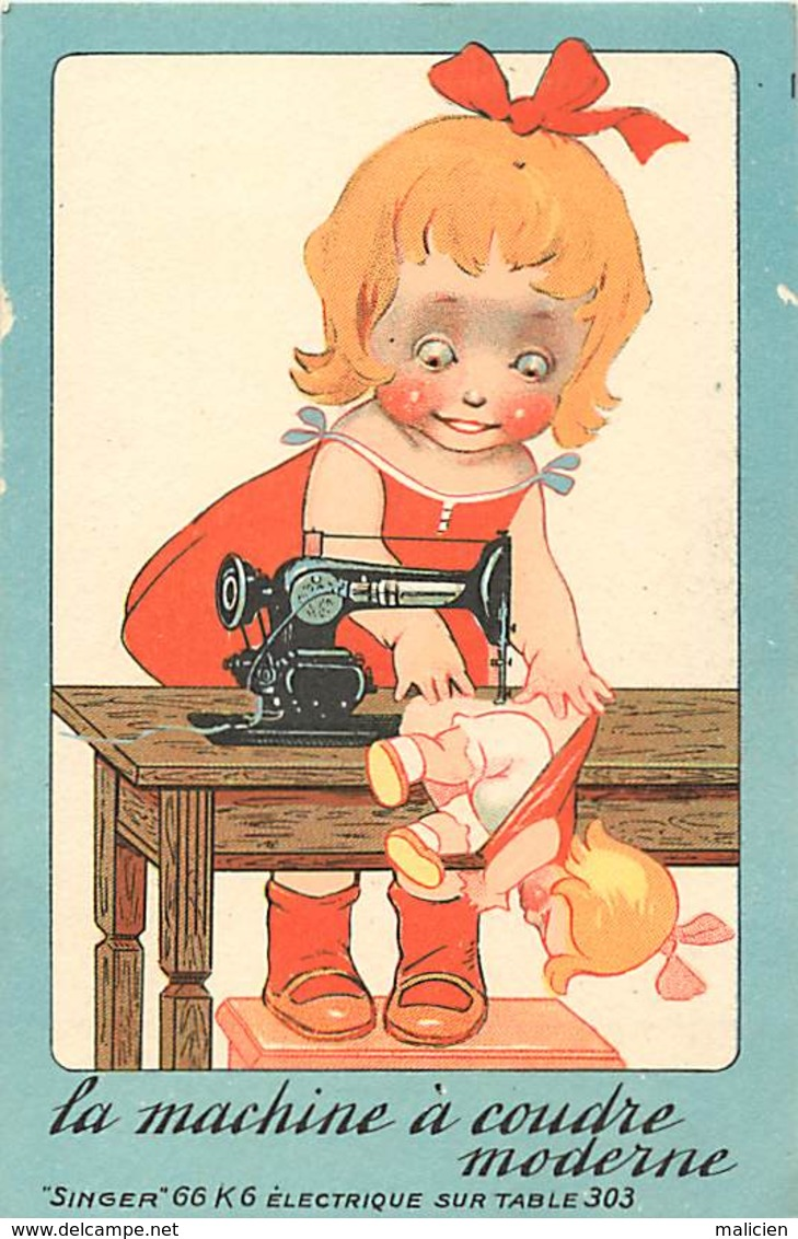 -ref-A999- Loire Atlantique - Nantes - 22 Rue Grebillon - Publicite Singer - Machine A Coudre - Illustrateurs - - Nantes
