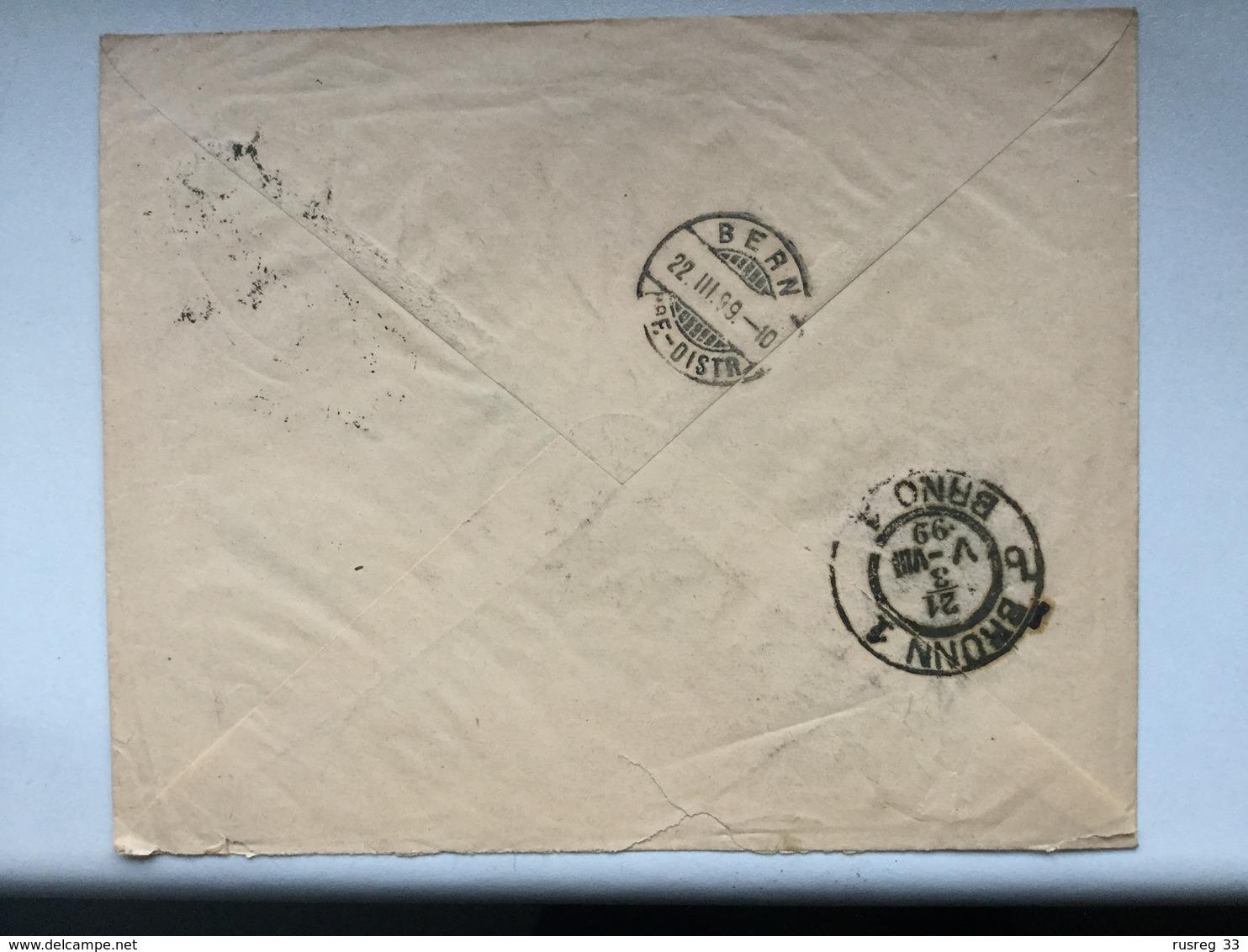 K6 Russia Russie 1899 Brief Von Odessa Nach Bern über Brünn Ungewöhnlich!! - 1857-1916 Empire