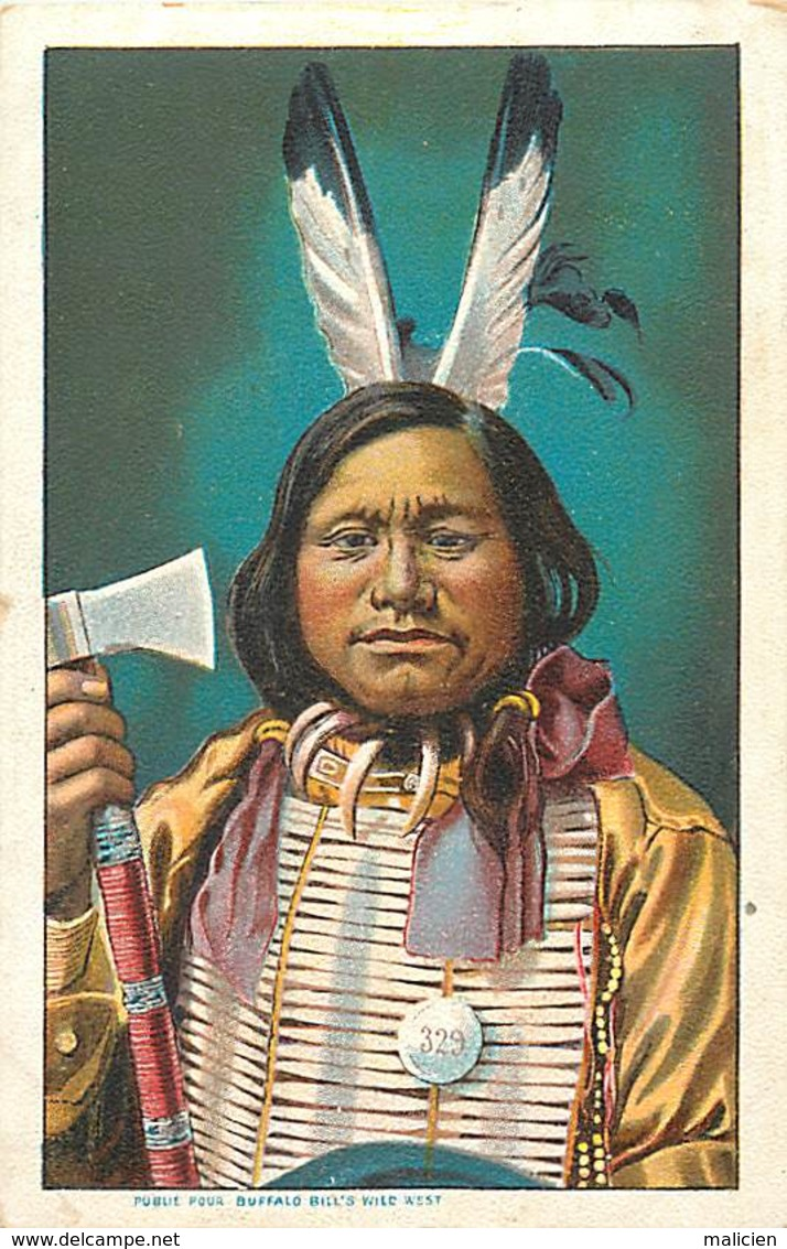 -ref-A990- Indiens De L Amerique Du Nord - Indien - Edit. Pour Buffalo Bill S Wild West - Carte Bon Etat - - Indiens De L'Amerique Du Nord