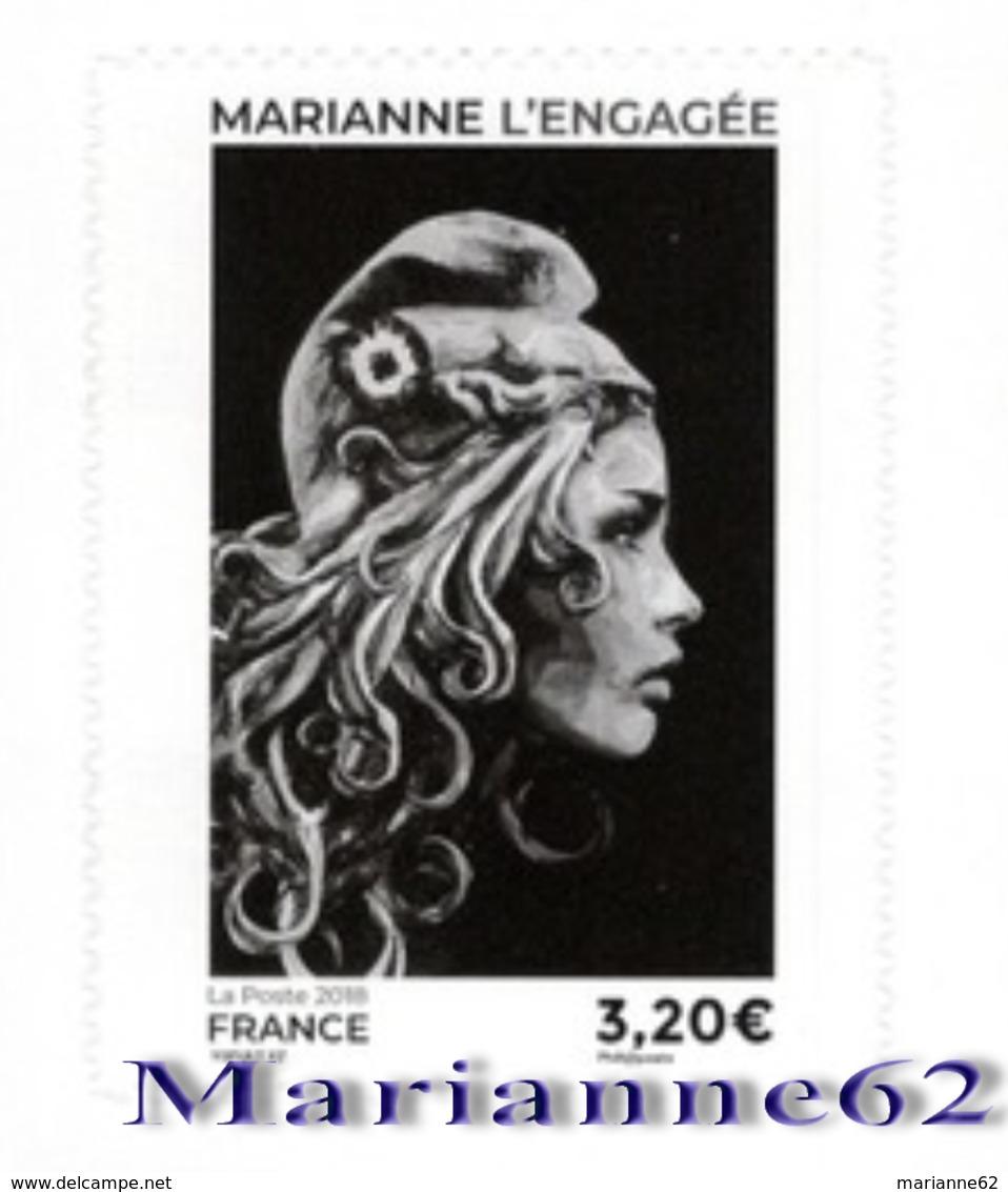 "France 2018 TP Issu Du Carnet Marianne L'engagée - "" LIBRE "" - Adhésif - MNH Neuf - Carnets"