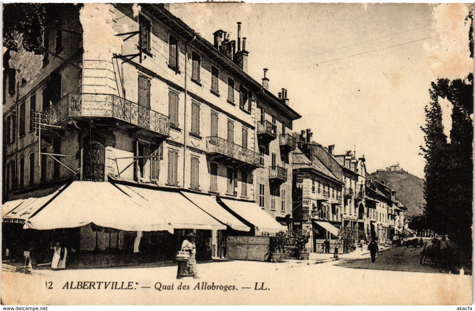 CPA Albertville- Quai Des Allobroges. (713188) - Albertville
