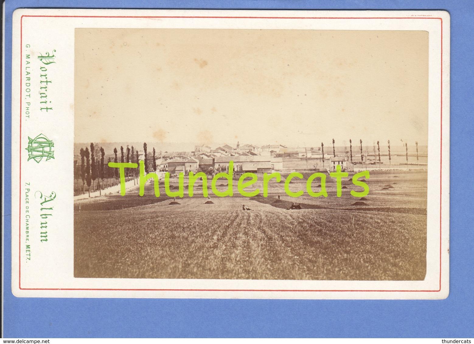 GRAND PHOTO DE CABINET 16cm X 11 Cm METZ MALARDOT GRAVELOTTE - Ancianas (antes De 1900)