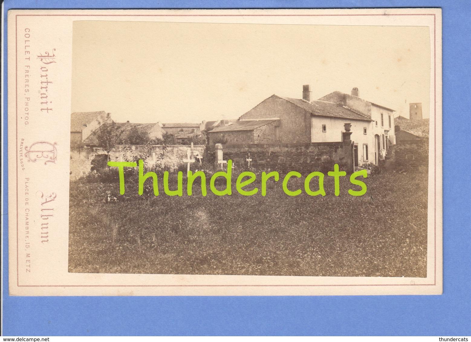 GRAND PHOTO DE CABINET 16cm X 11 Cm METZ COLLET FRERES SAINT ST PRIVAT - Ancianas (antes De 1900)