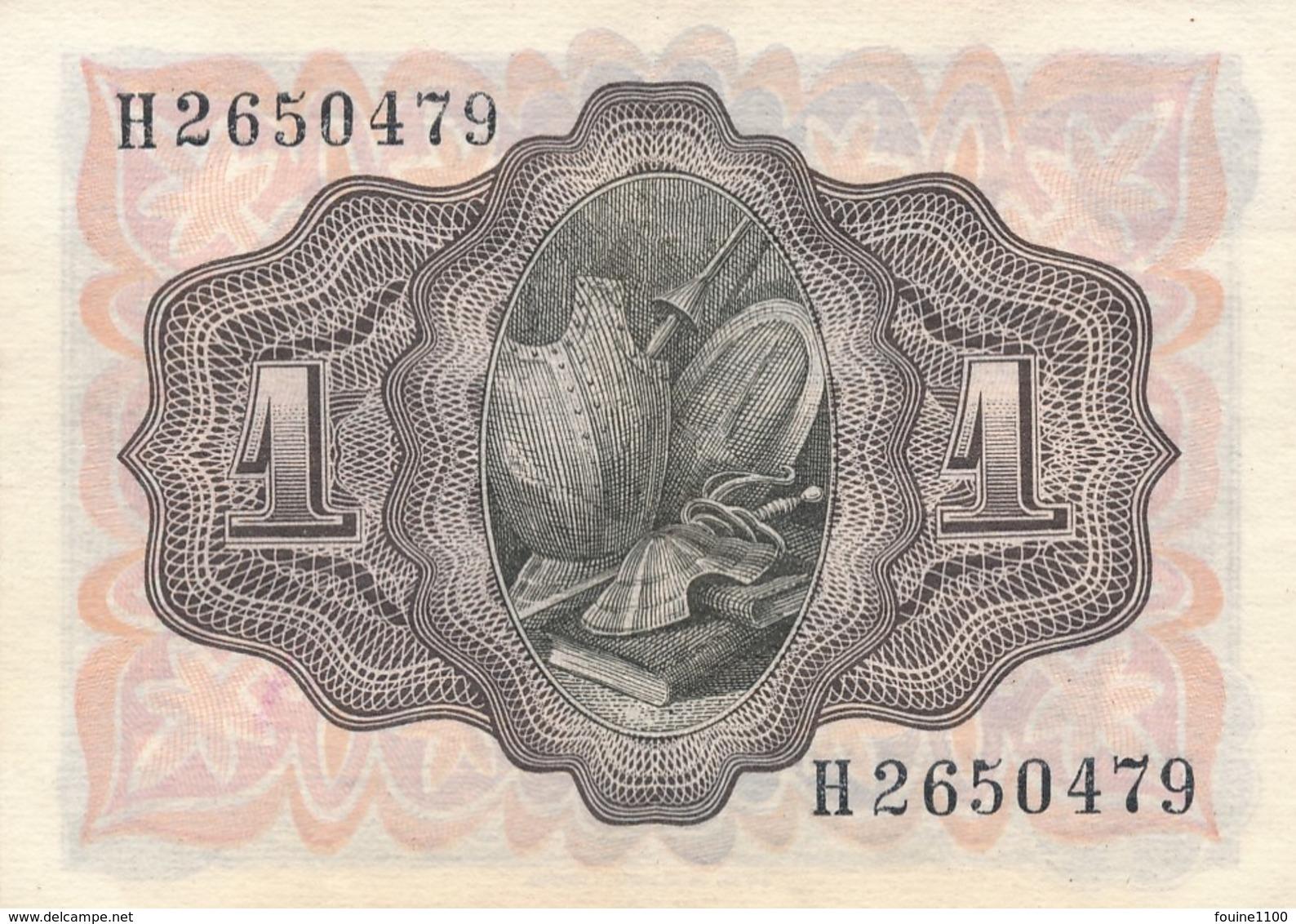 Billet De Banque Espagne Espana  1 Peseta  1951 - 1-2 Pesetas