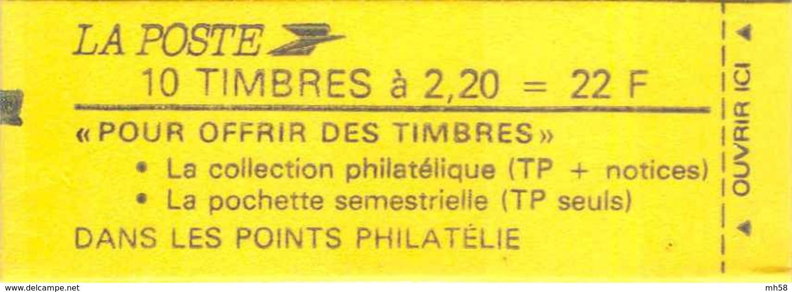 FRANCE - Carnet Conf. 7 - 2f20 Liberté Rouge - YT 2376 C6B / Maury 461a - Carnets