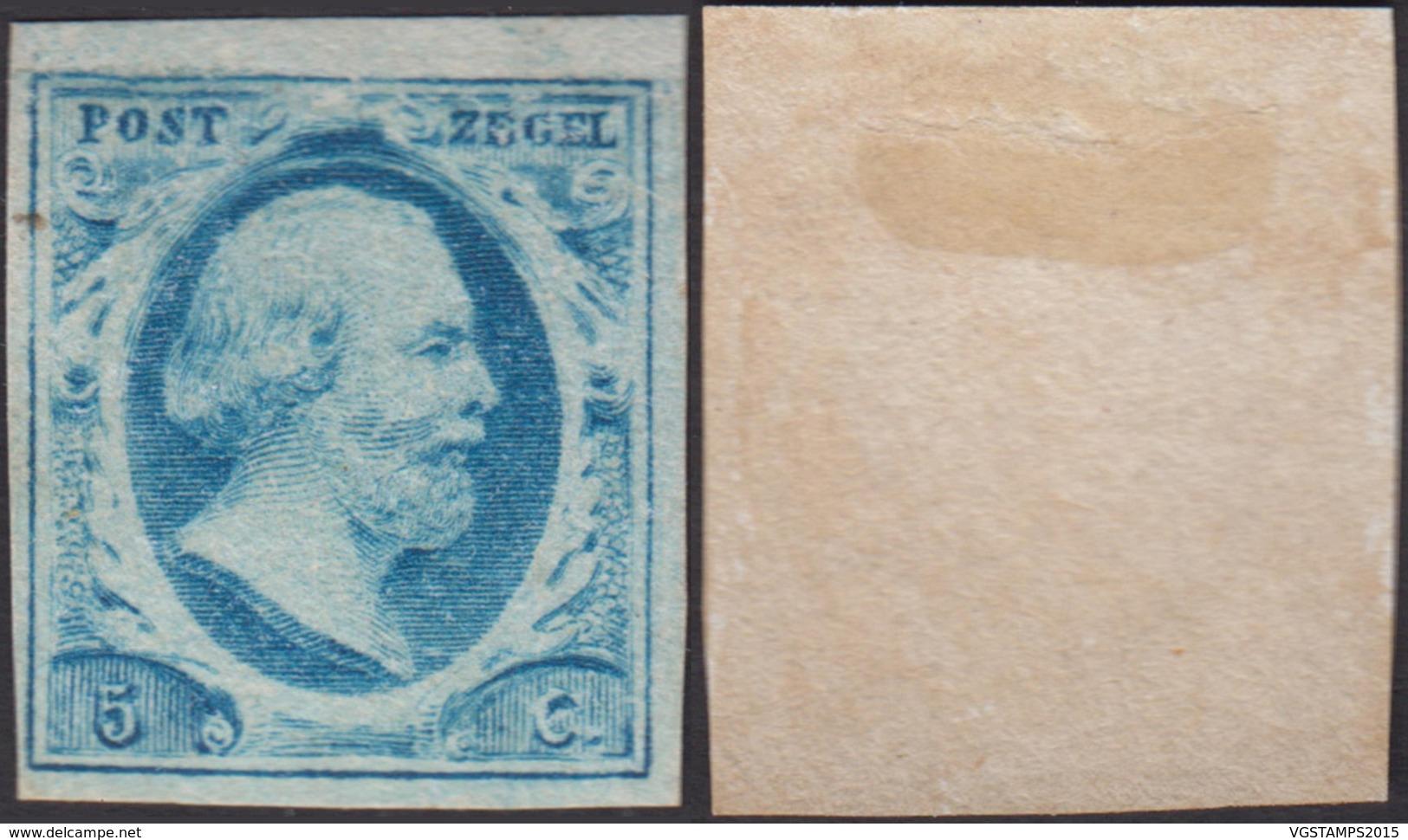 Pays-Bas 1852 - Yvert Nº1 X (DD) DC1348 - Pays-Bas