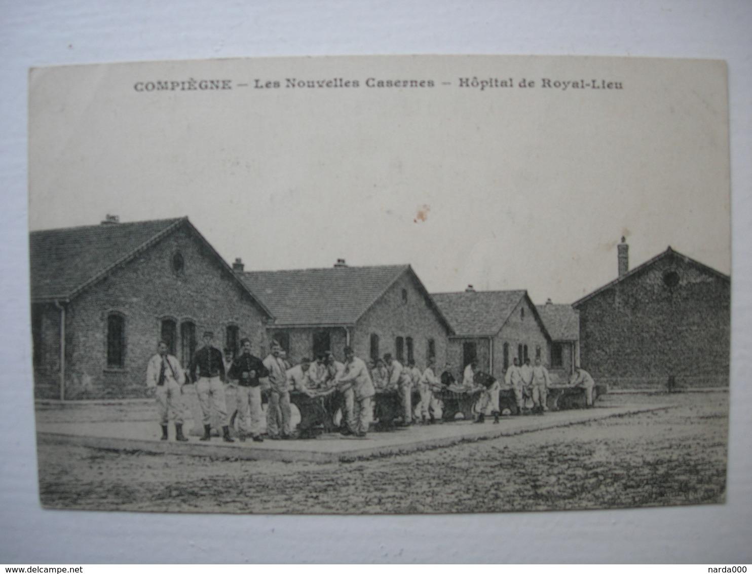 CPA Compiegne. Les Nouvelles Casernes. Hopital D Royal-Lieu.1918. - Compiegne