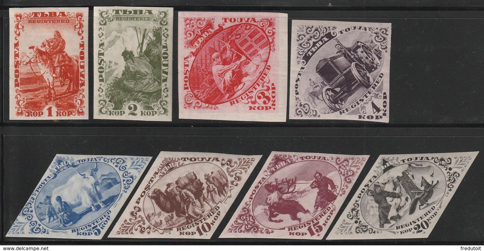 TOUVA - N° 39/46 **  (1934) Timbres Pour Le Courrier Recommandé - Tuva