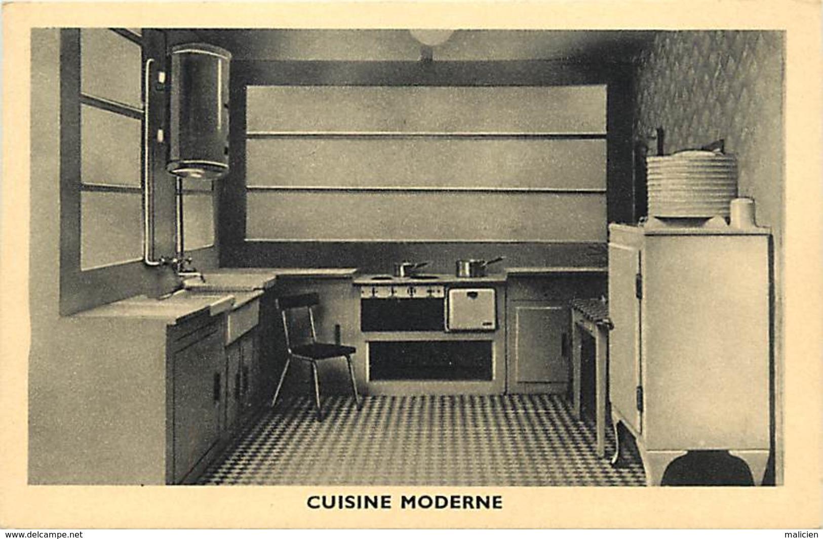 -ref-A977- Batiments Et Architecture - Cuisine Moderne -  Meubles - Architecte - Architectes - Metiers - Carte Bon Etat - Autres