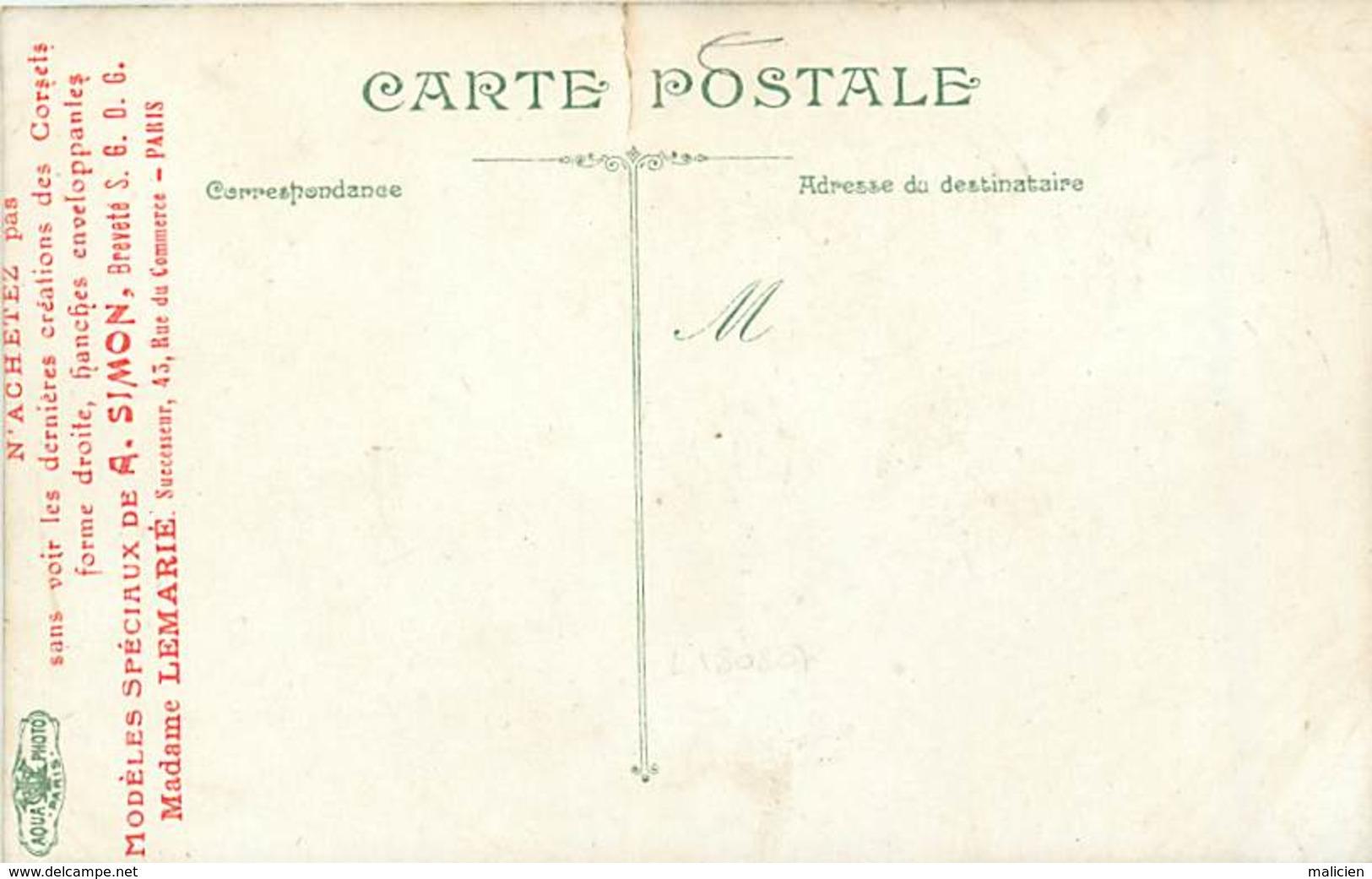 -ref-A976- Militaria - Regiments - Regiment Infanterie -epluchage Pommes De Terre -verso Pub Simon - Lemarie - Paris 15e - Régiments