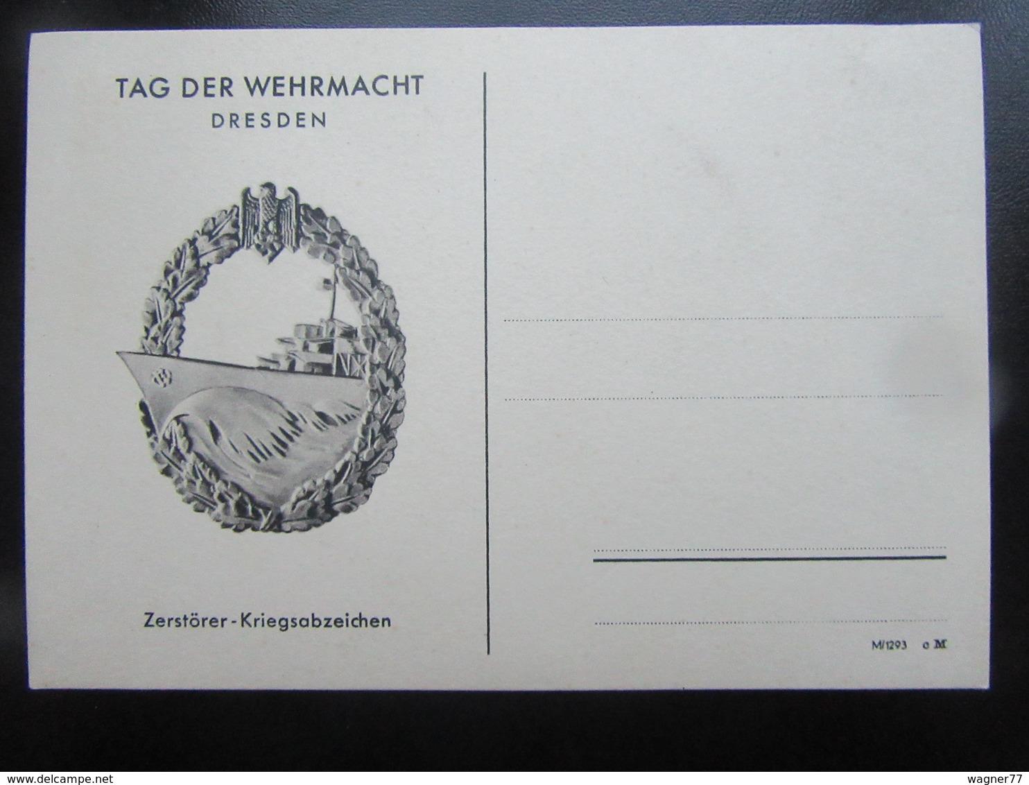 Postkarte Tag Der Wehrmacht Dresden - Briefe U. Dokumente