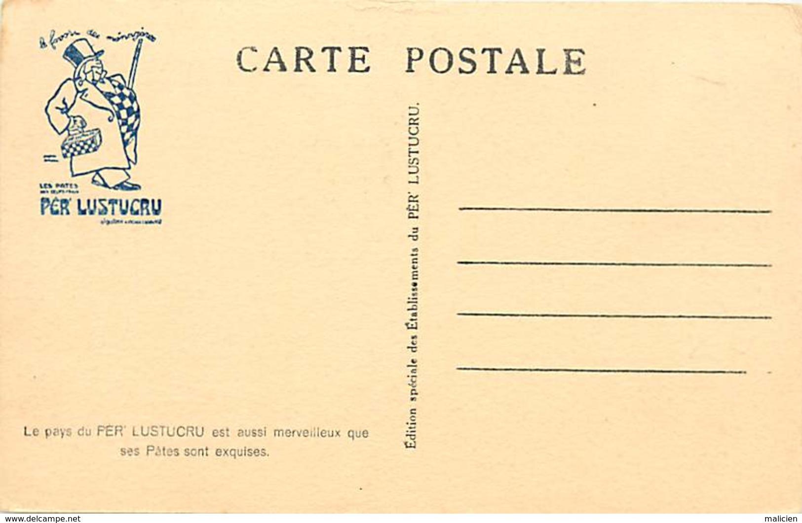 -ref-A963- Publicite -per' Lustucru - Pates - Cuisine - Edition Spéciale Ets Lustucru - Verso Grande Chartreuse - Isere - Publicité