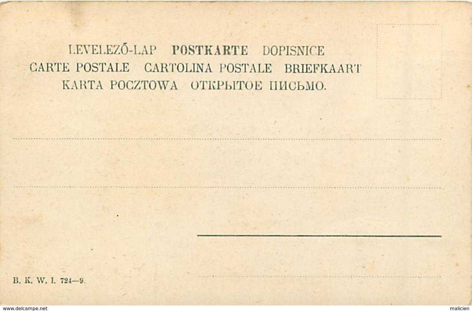 -ref-A954- Illustrateurs - Illustrateur - Mois De L Année - Septembre - Editeur B.k W..i.724-9 - Carte Bon Etat - - 1900-1949