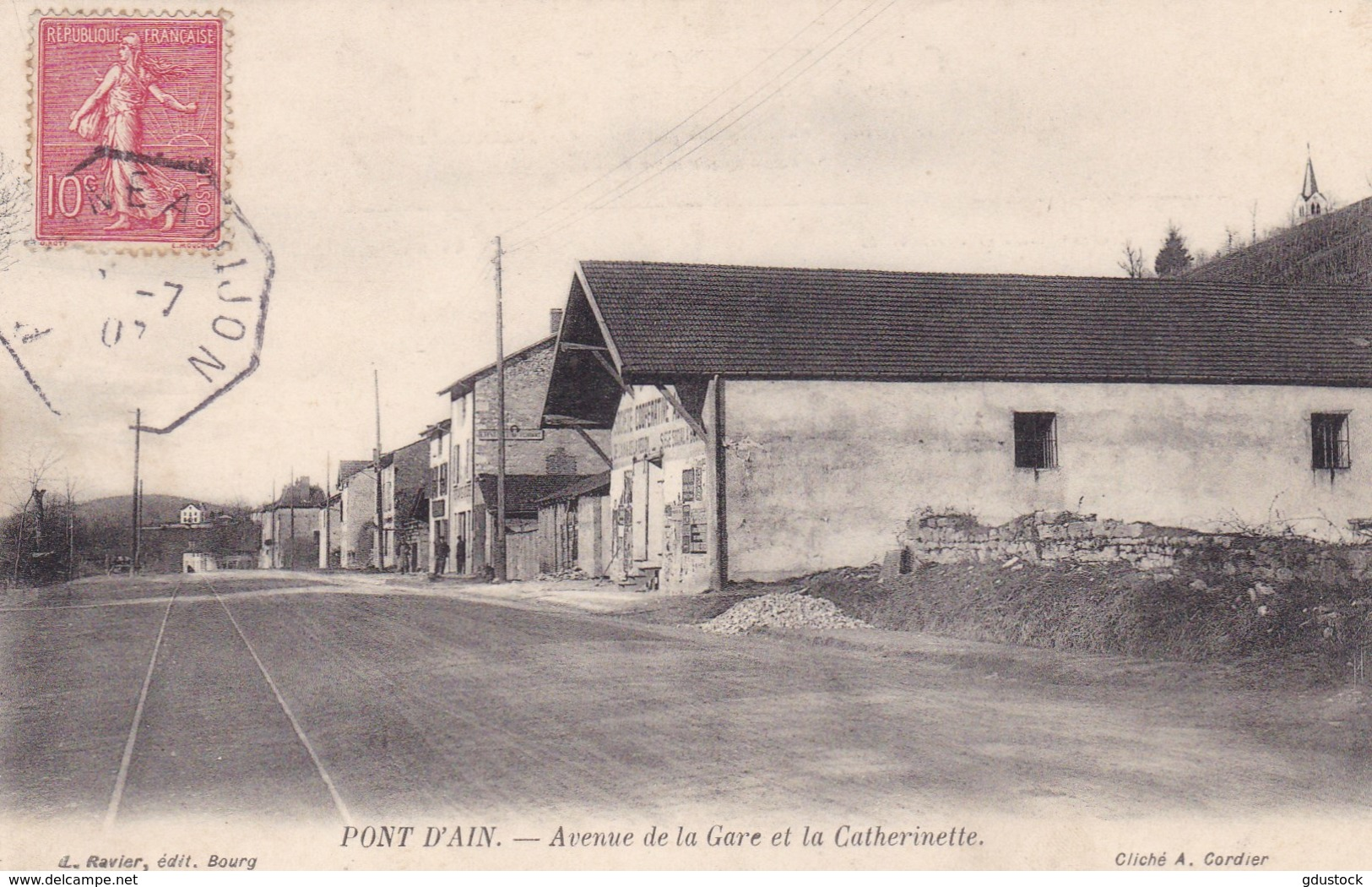 Ain - Pont-d'Ain - Avenue De La Gare Et La Catherinette - Autres Communes