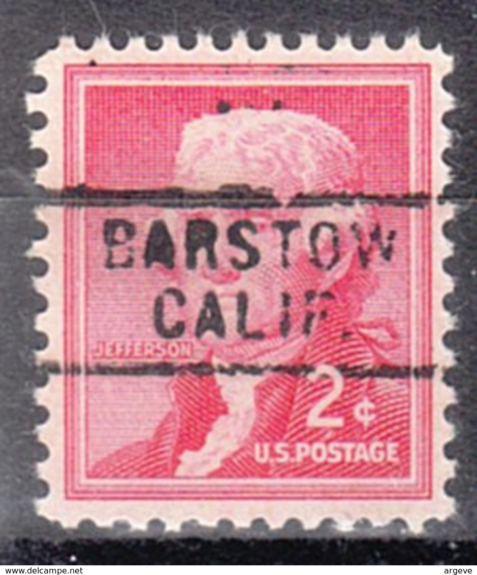 USA Precancel Vorausentwertung Preo, Locals California, Barstow 729 - Etats-Unis