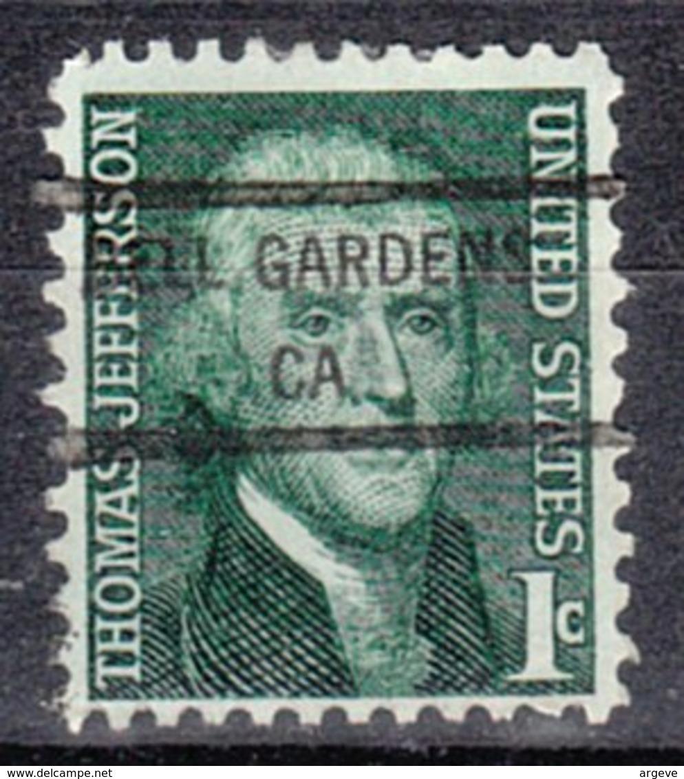 USA Precancel Vorausentwertung Preo, Locals California, Bell Gardens 846 - Etats-Unis