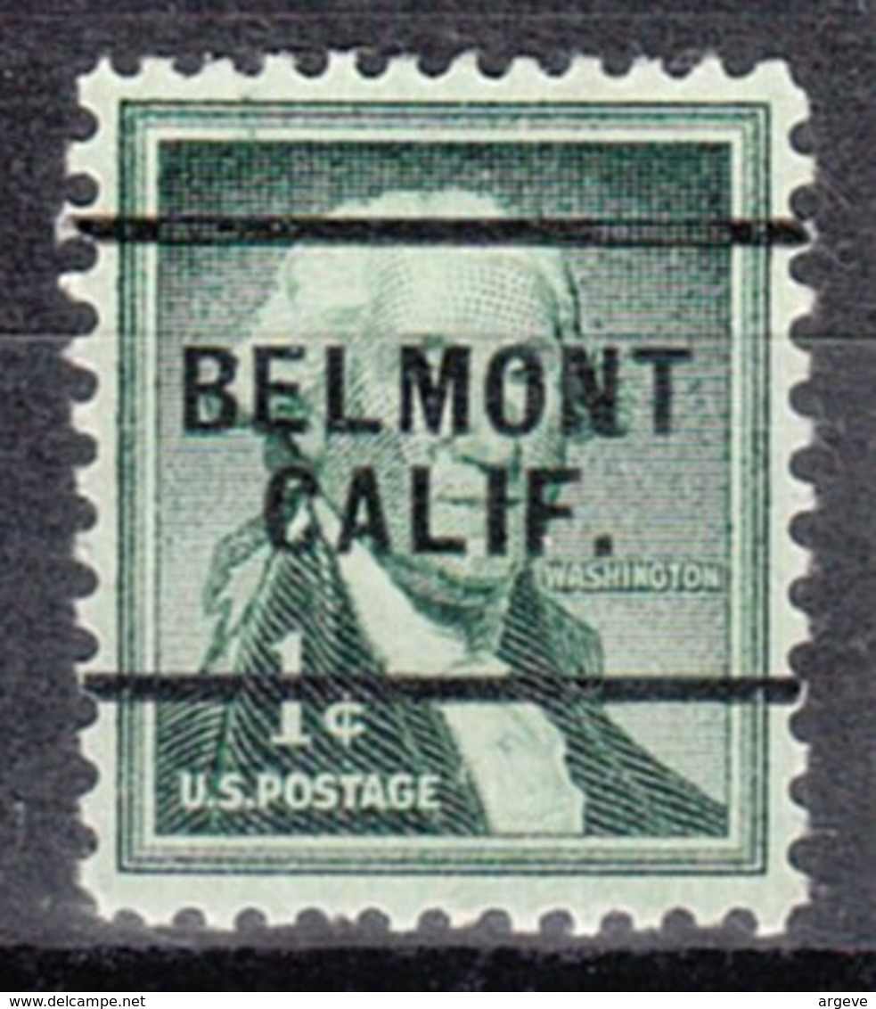 USA Precancel Vorausentwertung Preo, Locals California, Belmont 256 - Etats-Unis