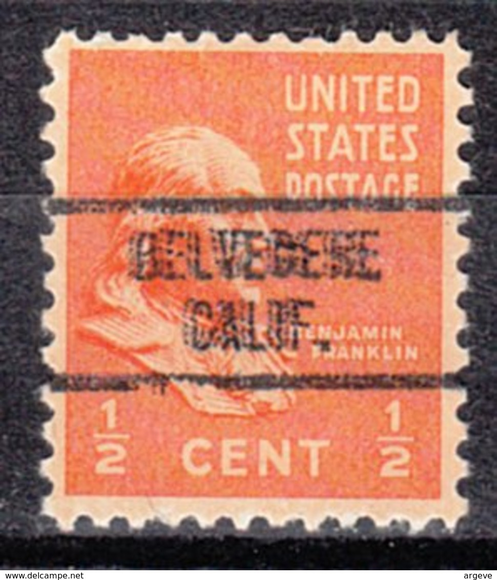 USA Precancel Vorausentwertung Preo, Locals California, Belvedere 734 - Etats-Unis