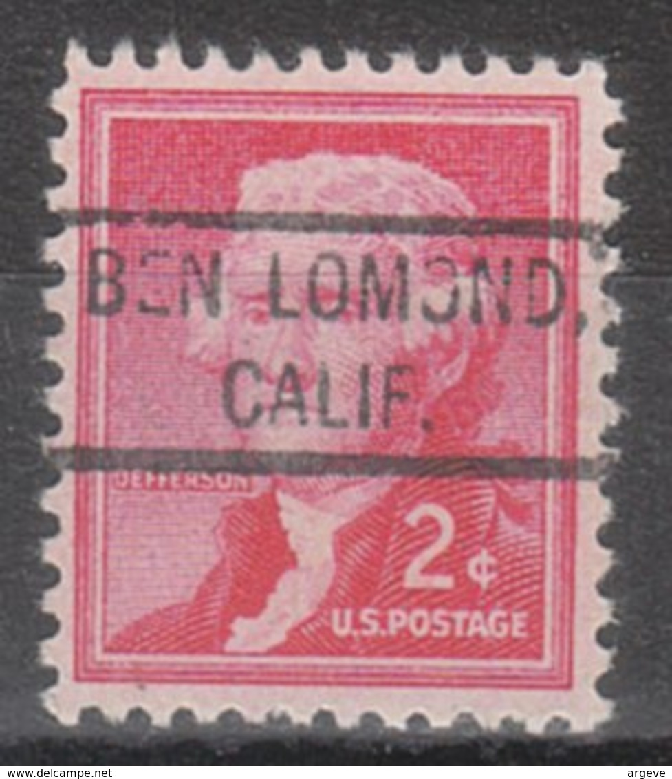 USA Precancel Vorausentwertung Preo, Locals California, Ben Lomond 804 - Etats-Unis